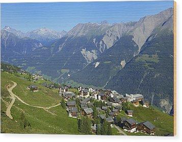 Riederalp Valais Swiss Alps Switzerland Wood Print by Matthias Hauser