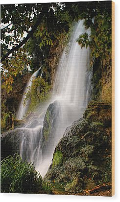 Wood Print featuring the photograph Rifle Falls by Priscilla Burgers