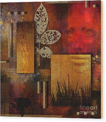 Rift Wood Print by Nola Lee Kelsey