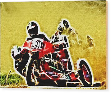 Right Hand Sidecar Outfit Wood Print by Sharon Lisa Clarke