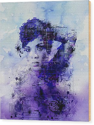 Rihanna 2 Wood Print by Bekim Art
