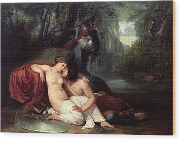 Rinaldo And Amida Wood Print by Francesco Hayez