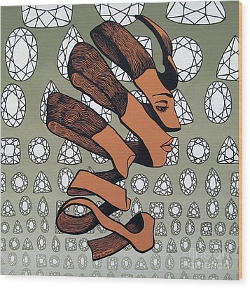 Wood Print featuring the painting Rind Beauty by Malinda Prudhomme