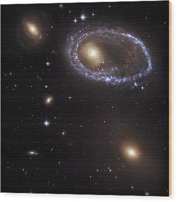 Ring Galaxy Wood Print by Jennifer Rondinelli Reilly - Fine Art Photography