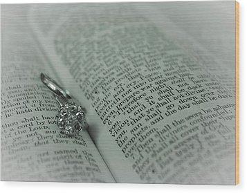 Ring Wood Print by Jennifer Burley