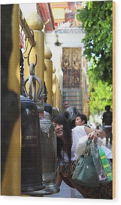 Ringing Of The Bells - Wat Phrathat Doi Suthep - Chiang Mai Thailand - 01132 Wood Print by DC Photographer