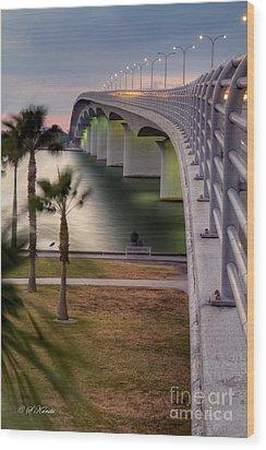 Ringling Causeway Bridge Overlook Wood Print