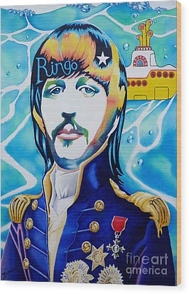 Ringo Wood Print by Debbie  Diamond