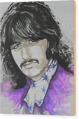 Ringo Starr. 01 Wood Print by Chrisann Ellis