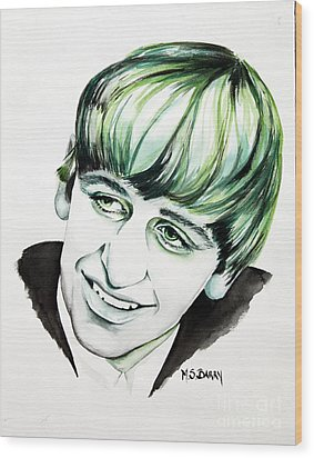 Ringo Starr Wood Print by Maria Barry
