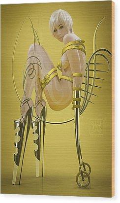 Rinjin Wood Print by Tsubasa Art