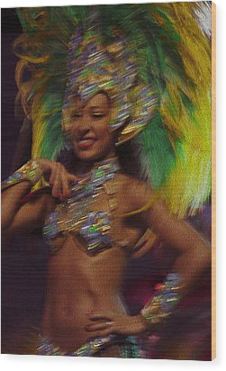 Rio Dancer IIi B Wood Print