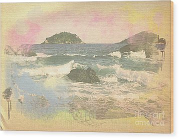 Rio In Aquarelle Wood Print by Will Cardoso
