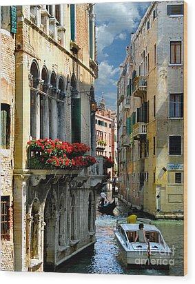 Wood Print featuring the photograph Rio Menuo O De La Verona. Venice by Jennie Breeze