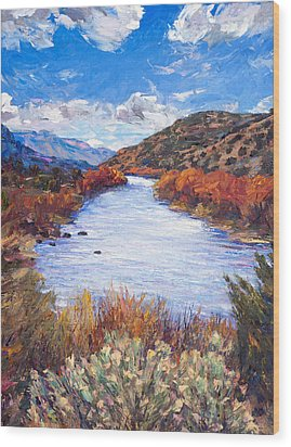 Rio River Bend Wood Print by Steven Boone