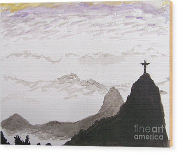 Rio Sunrise Wood Print by Kevin Croitz