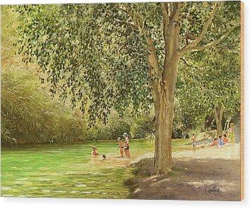 Rio Toba Wood Print by Margaret Merry