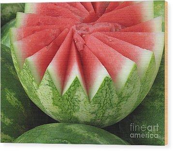 Ripe Watermelon Wood Print