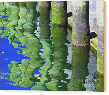 Ripple Reflections Wood Print by Ed Weidman