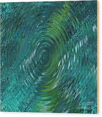 Ripple Sea Glass  Wood Print by Christine Fournier
