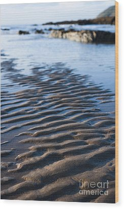 Ripples In The Sand Wood Print by Anne Gilbert