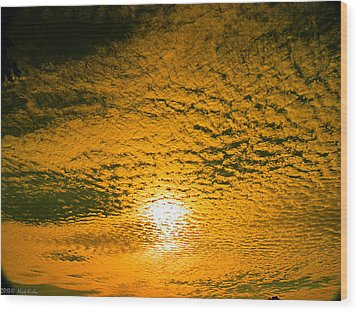 Ripples In The Sky Wood Print
