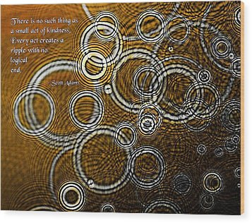 Ripples Wood Print by Mike Flynn