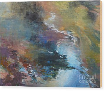 Ripples No. 2 Wood Print by Melody Cleary
