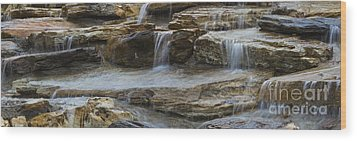 Ripples Of Water Panoramic Wood Print by Michael Waters