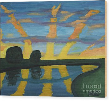 Rise And Shine Wood Print by Annette M Stevenson