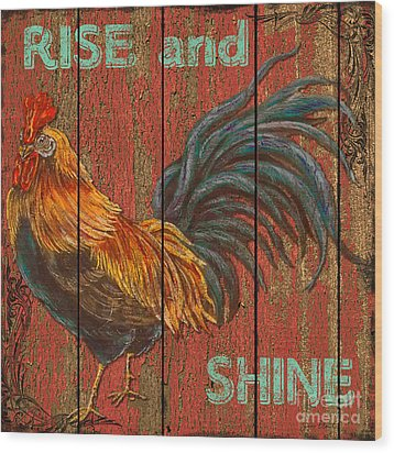 Rise And Shine Wood Print by Jean PLout