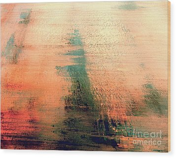 Wood Print featuring the painting Rise by Jacqueline McReynolds