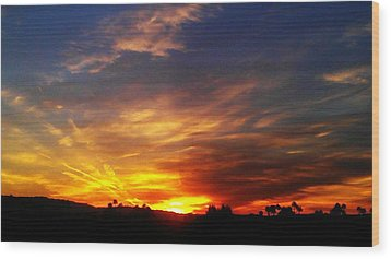 Rise N Shine Wood Print by Chris Tarpening