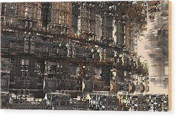 Rise Of The Machine Wood Print