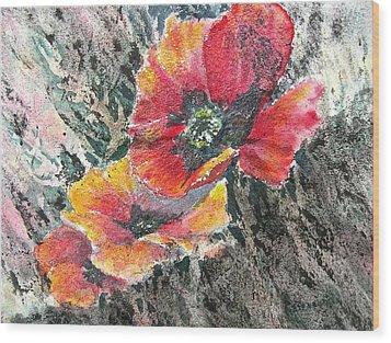 Rising Above Wood Print by Carolyn Rosenberger
