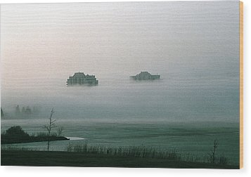 Rising From The Mist Wood Print by David Porteus