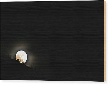 Rising Moon Wood Print by Joel Loftus