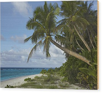 Ritidian Beach In Guam Wood Print