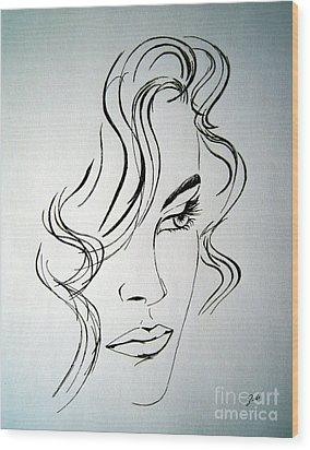 Ritratto Di Una Donna Sconosciuta - Portrait Of An Unknown Woman Wood Print