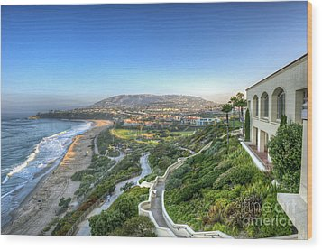 Ritz-carlton Laguna Niguel Ocean View Wood Print by David Zanzinger