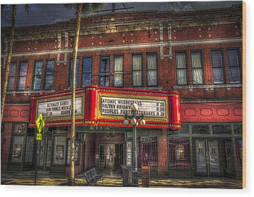 Ritz Ybor Theater Wood Print by Marvin Spates