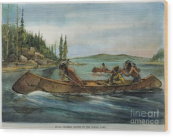 Rival Fur Traders  Wood Print by Granger