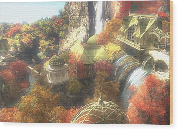 Rivendell Wood Print by Cynthia Decker