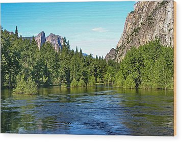 Yosemite National Park Wood Print by Menachem Ganon