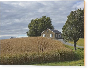 River Corner Mennonite Church Wood Print