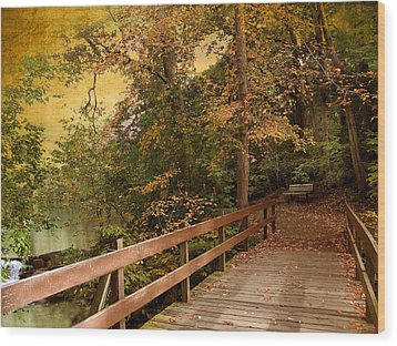 River Crossing Wood Print by Jessica Jenney
