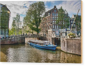 Wood Print featuring the photograph River Cruise by Brent Durken