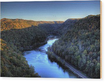 Wood Print featuring the photograph River Cut Through The Valley by Jonny D