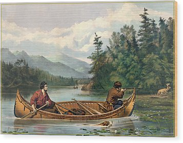 River Hunting Wood Print by Gary Grayson