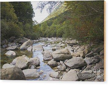 river in Ainsa Wood Print